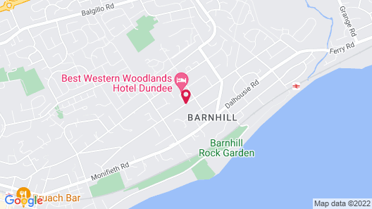 Best Western Dundee Woodlands Hotel Map