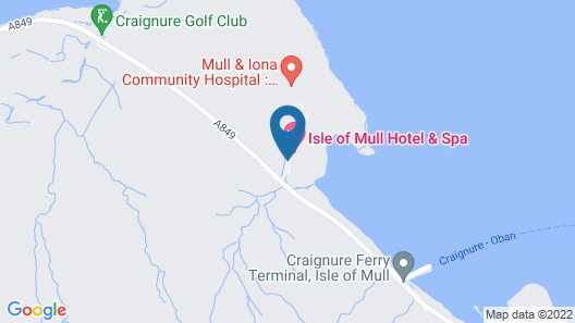 The Isle of Mull Hotel and Spa Map