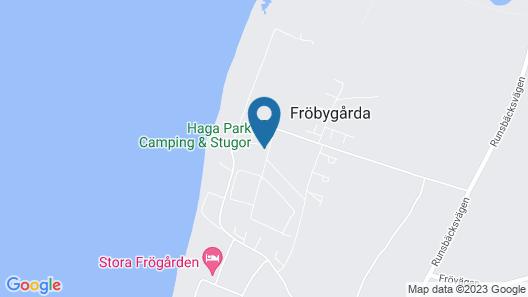Haga Park Camping & Stugor Map