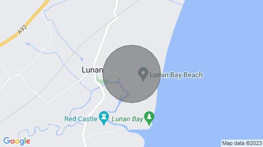 Stylish and Luxury Beach Cottage Located at the Award Winning Lunan Bay Scotland Map
