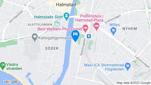 Halmstad Hotell & Vandrarhem Kaptenshamn Map