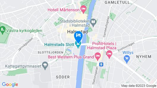 Scandic Hallandia Map