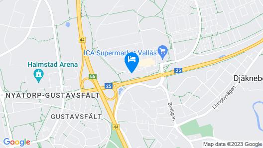 Optima Hotel Apartments Halmstad Map