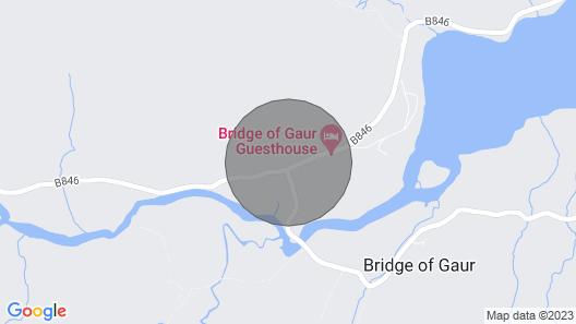 Designer Lodge Near the Shores of Loch Rannoch Map