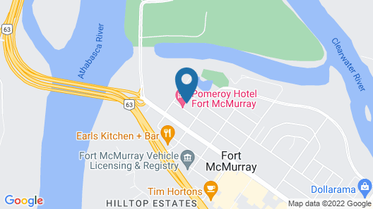 Pomeroy Hotel Fort McMurray Map
