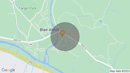 Rural Semi-detached House in Blair Atholl Near Pitlochry- sky tv, Garden Map