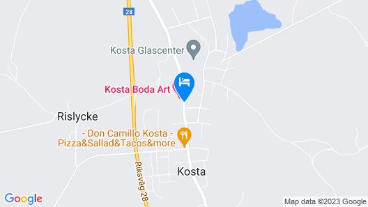 Kosta Boda Art Hotel Map