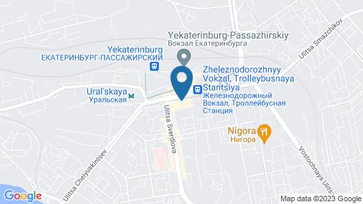 Marins Park Hotel Ekaterinburg Map