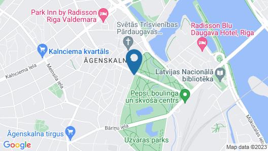 Bellevue Park Hotel Riga Map