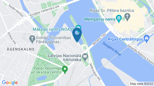 Radisson Blu Daugava Hotel Map