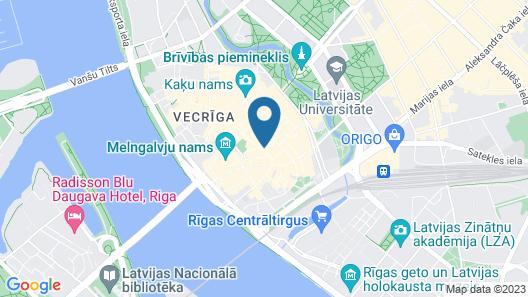 Historical Ekes Konvents 1435 Hotel Map