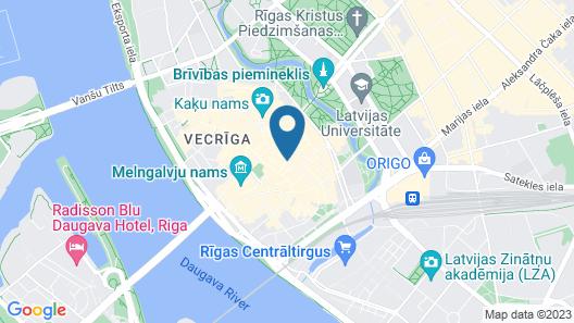 Rixwell Hotel Konventa Seta Map
