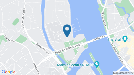Riga Islande Hotel Map