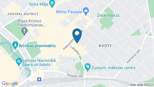 RIGAAPARTMENTcom GERTRUDA Apartments & Restaurant Map