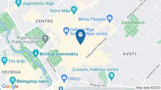 Park Inn by Radisson Residence Riga Barona Map