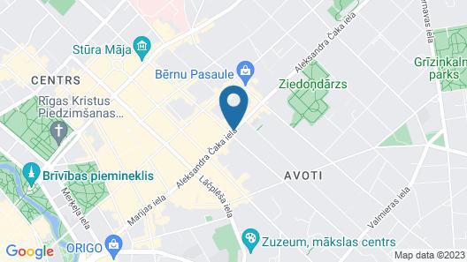 Viktorija Hotel Map
