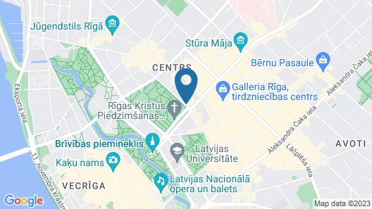 Radisson Blu Latvija Conference & Spa Hotel, Riga Map