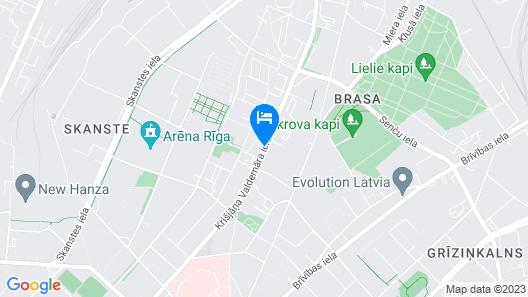 Hotel Avitar Map