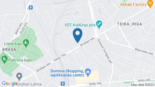 Rija VEF Hotel Map