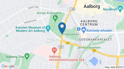 Comwell Hvide Hus Aalborg Map