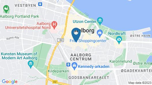 Aalborg City apartments Map