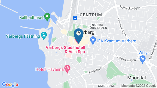 Varbergs Stadshotell & Asia Spa Map