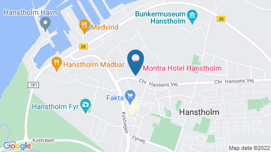 Montra Hotel Hanstholm Map