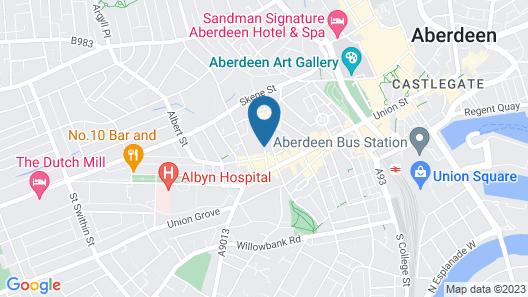 Holiday Inn Express Aberdeen City Centre Map