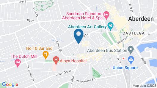 Copthorne hotel Aberdeen Map