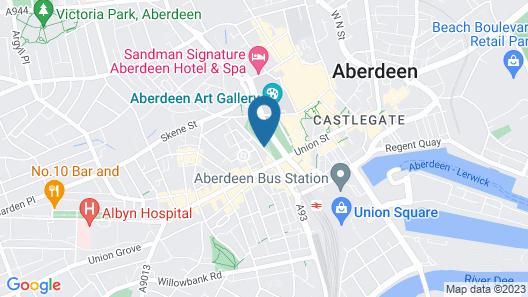 Mercure Aberdeen Caledonian Hotel Map