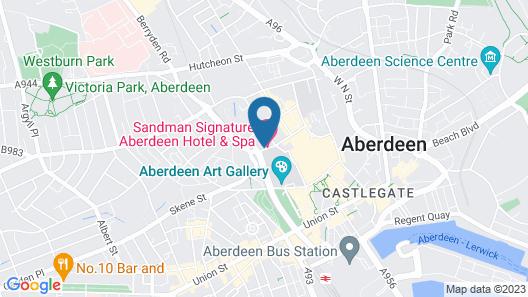 Sandman Signature Aberdeen Hotel & Spa Map
