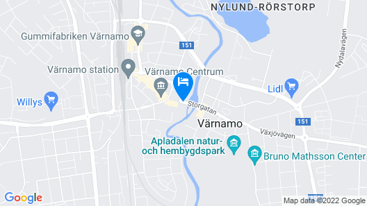 Best Western Hotel Värnamo Map
