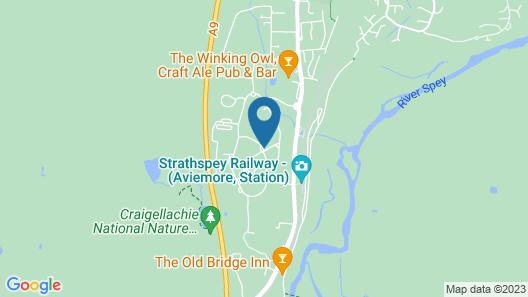 Macdonald Morlich Hotel Map
