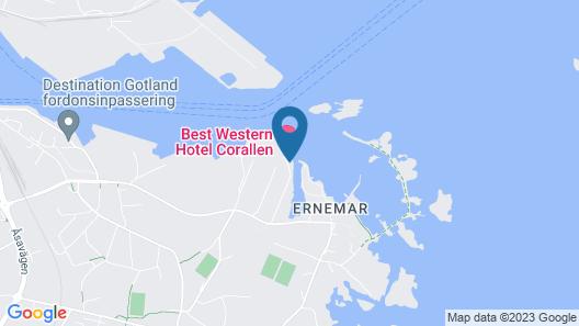 Best Western Hotel Corallen Map