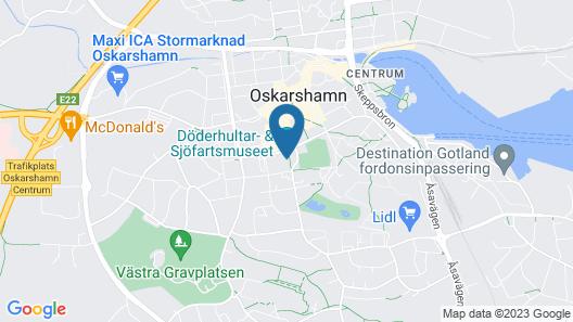STF Oscar Vandrarhem Map