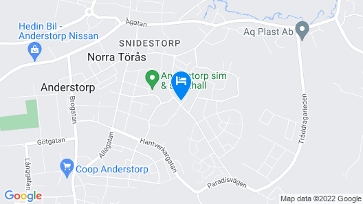 1 Bedroom Accommodation in Anderstorp Map