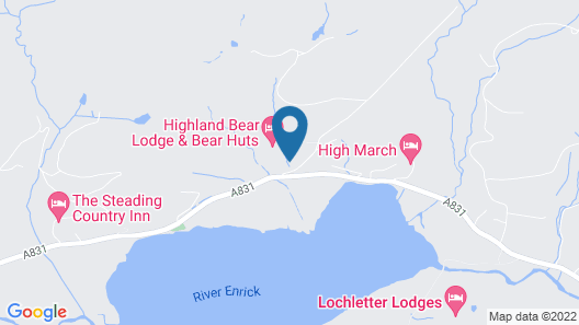 Highland Bear Lodge & Luxury Bear Huts Map