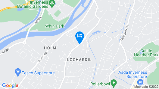 Lochardil House Hotel Map