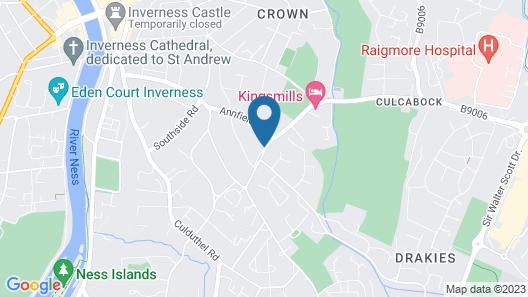 The Waverley Inn Holiday Homes Map