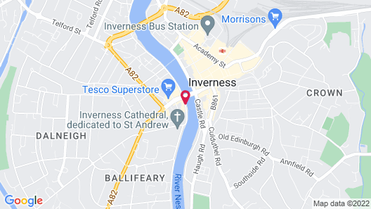 Columba Hotel Inverness by Compass Hospitality Map
