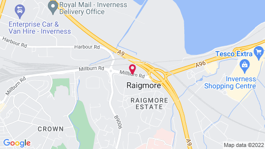 Jurys Inn Inverness Map