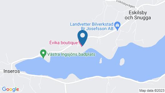 Évika boutique hotel Map