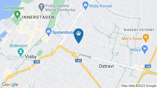Vandrarhemmet Birkagatan 8 Map