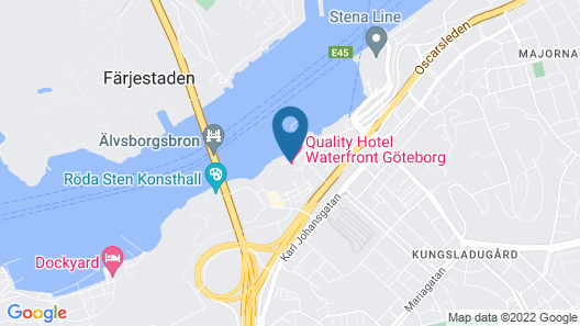 Quality Hotel Waterfront, Goteborg Map