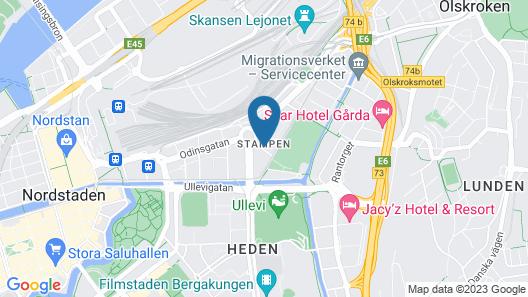 Best Western Arena Hotel Gothenburg Map