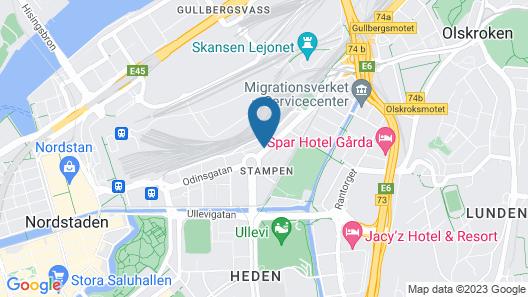 Odinsplatsen Företagsbostäder Map