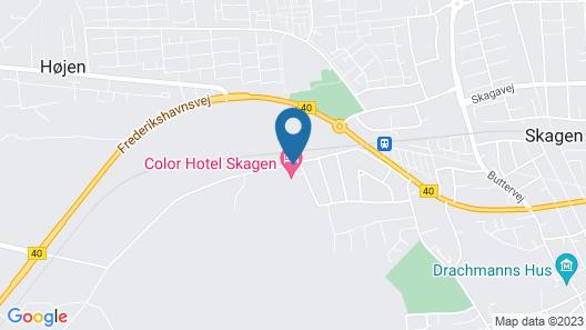 Color Hotel Skagen Map