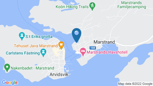 Cosy House in the Swedish Archipelago With Boat and Private Dock in Marstrand Map