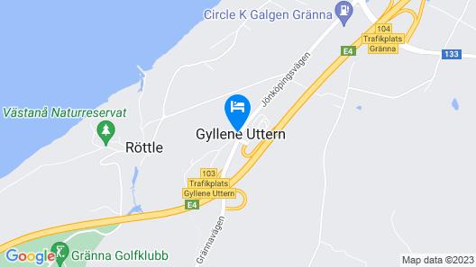 Hotel Gyllene Uttern Map