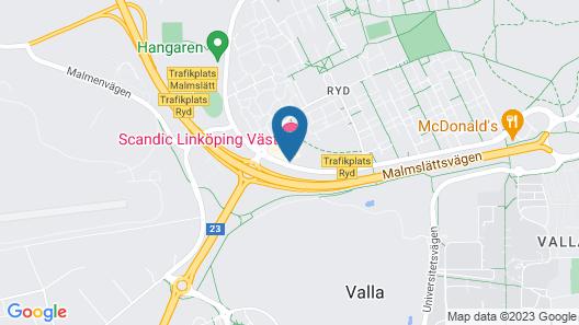 Scandic Linköping Väst Map